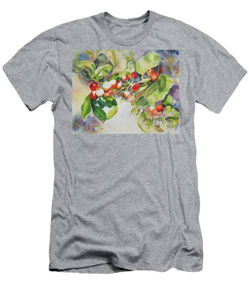 Holly Berries Men's T-Shirt (Athletic Fit)
