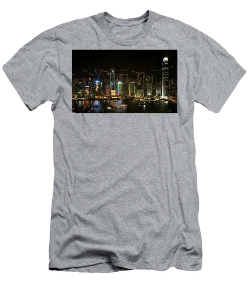 Hong Kong On A December Night Men's T-Shirt (Athletic Fit)