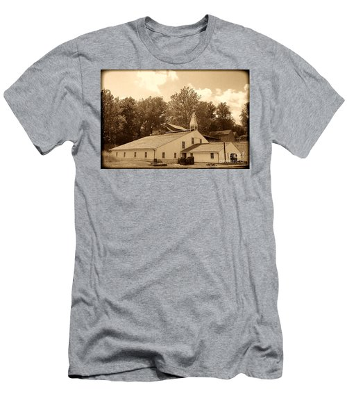 Hopewell Furnace Antique Industrial Building Men's T-Shirt (Athletic Fit)