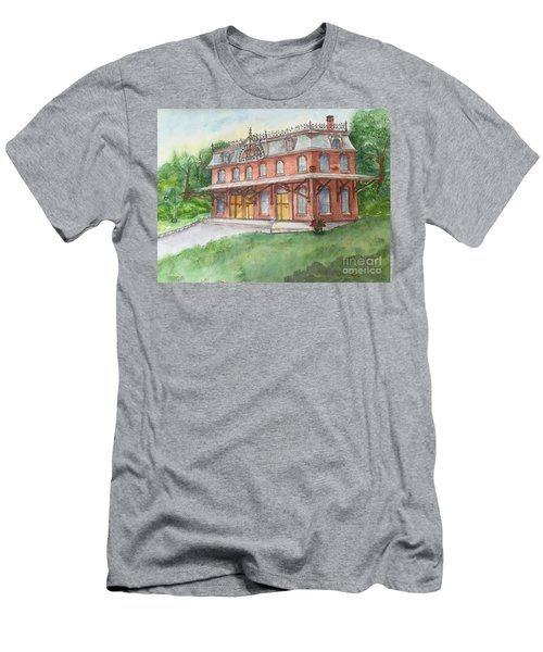 Hopewell Nj Train Station Men's T-Shirt (Slim Fit) by Lucia Grilletto