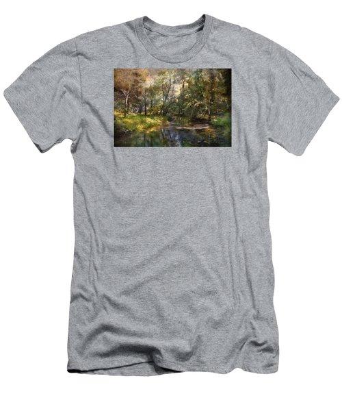Hopkins Pond, Haddonfield, N.j. Men's T-Shirt (Slim Fit) by John Rivera