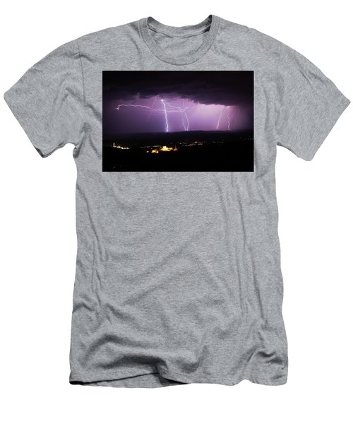 Horizontal And Vertical Lightning Men's T-Shirt (Athletic Fit)