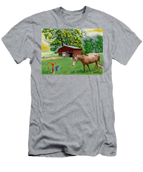 Horse And Barn Men's T-Shirt (Athletic Fit)