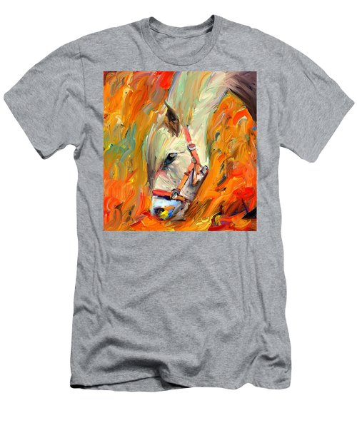 Horse And Grass Men's T-Shirt (Athletic Fit)