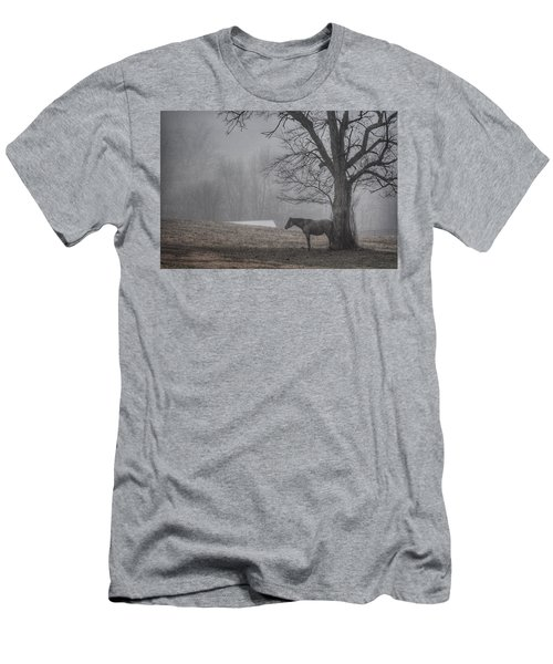 Men's T-Shirt (Slim Fit) featuring the photograph Horse And Tree by Sumoflam Photography