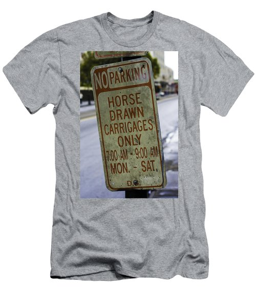 Horse Drawn Carriage Parking Men's T-Shirt (Athletic Fit)
