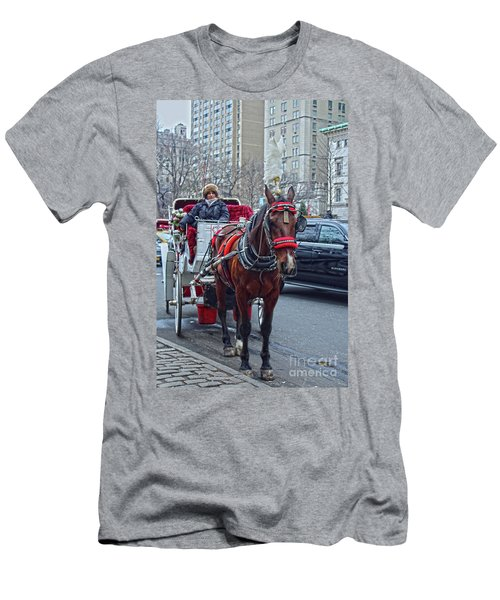 Men's T-Shirt (Slim Fit) featuring the photograph Horse Power by Sandy Moulder