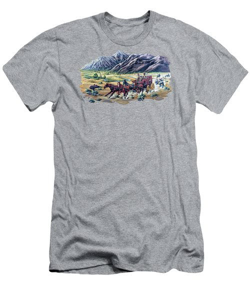Horses And Motorcycles Men's T-Shirt (Athletic Fit)