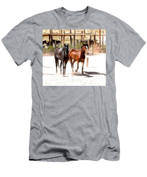 Horses Unlimited_6a Men's T-Shirt (Athletic Fit)