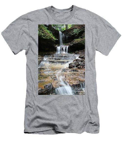 Men's T-Shirt (Slim Fit) featuring the photograph Horseshoe Falls #6735 by Mark J Seefeldt