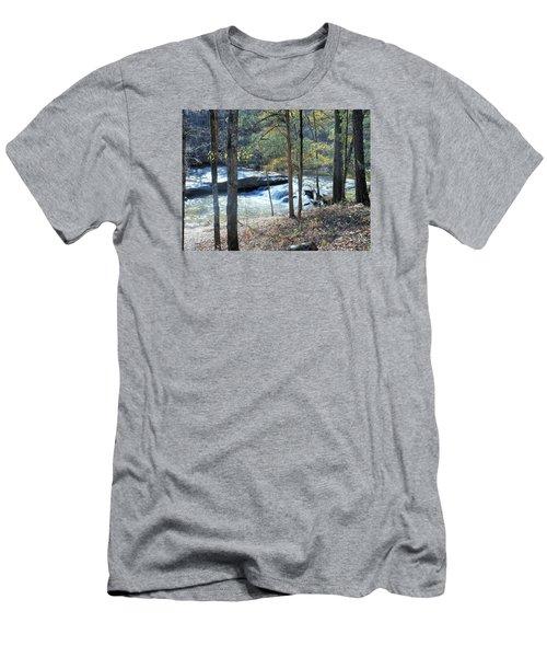 Horseshoe Falls Men's T-Shirt (Slim Fit) by Kay Gilley