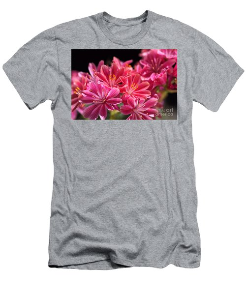 Hot Glowing Pink Delight Of Flowers Men's T-Shirt (Athletic Fit)