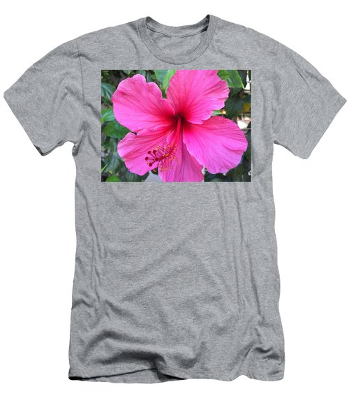 Hot Pink Hibiscus  Men's T-Shirt (Athletic Fit)