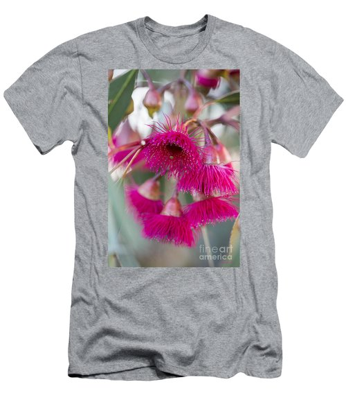 Men's T-Shirt (Slim Fit) featuring the photograph Hot Pink by Linda Lees