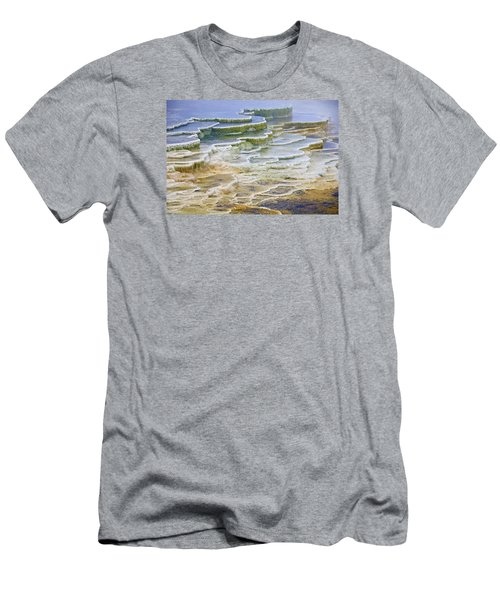 Men's T-Shirt (Slim Fit) featuring the photograph Hot Springs Runoff by Gary Lengyel