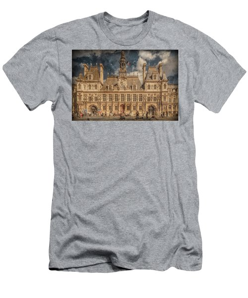 Paris, France - Hotel De Ville Men's T-Shirt (Athletic Fit)