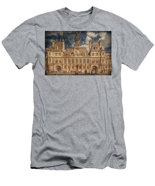 Paris, France - Hotel De Ville Men's T-Shirt (Athletic Fit)