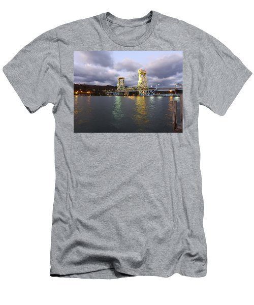 Houghton - Hancock Bridge Men's T-Shirt (Slim Fit) by Janice Adomeit
