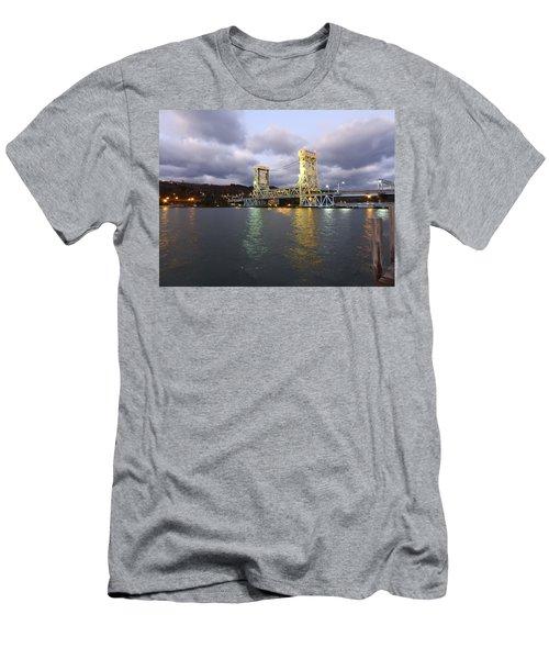 Men's T-Shirt (Slim Fit) featuring the photograph Houghton - Hancock Bridge by Janice Adomeit
