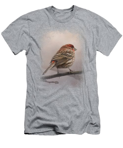 House Finch In January Men's T-Shirt (Slim Fit) by Jai Johnson