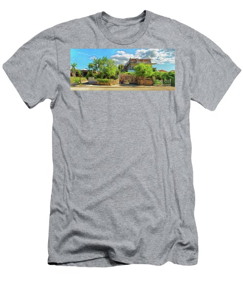 Men's T-Shirt (Athletic Fit) featuring the photograph House In Agios Georgios Corfu  by Leigh Kemp