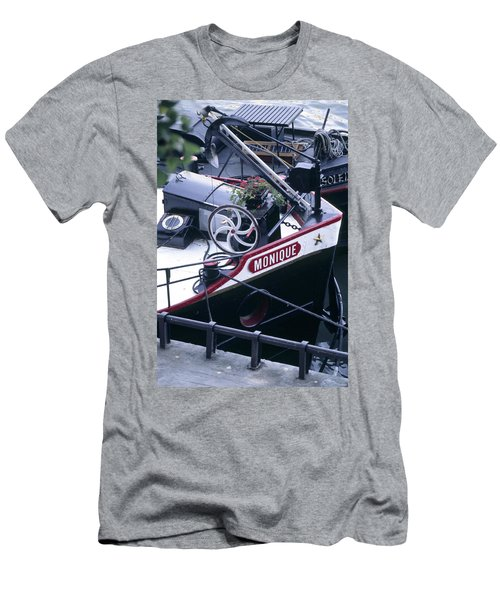 Houseboat In France Men's T-Shirt (Athletic Fit)