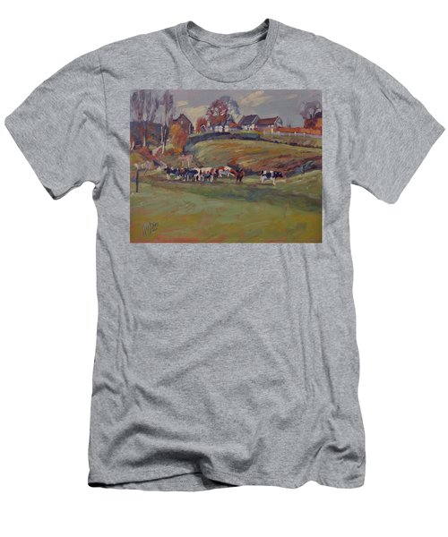 Houses And Cows In Schweiberg Men's T-Shirt (Athletic Fit)