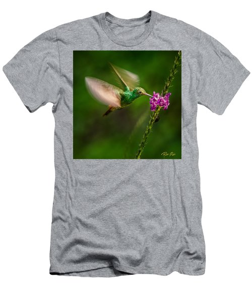 Men's T-Shirt (Athletic Fit) featuring the photograph Hovering In The Vervain  by Rikk Flohr