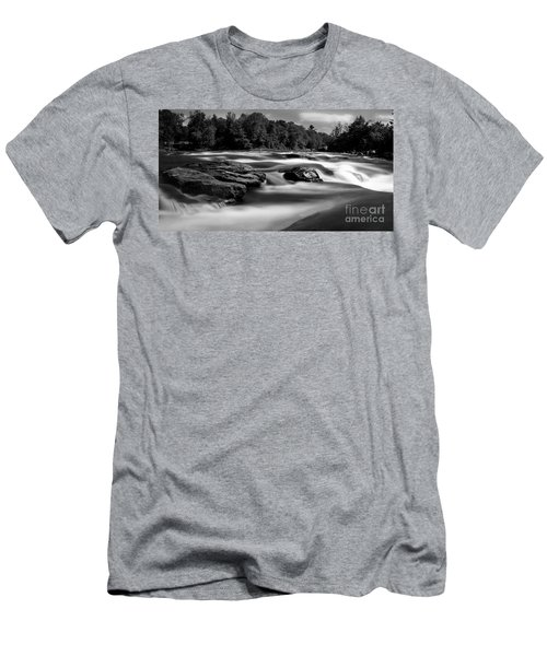 Men's T-Shirt (Slim Fit) featuring the photograph Hudson River Solice by Darleen Stry