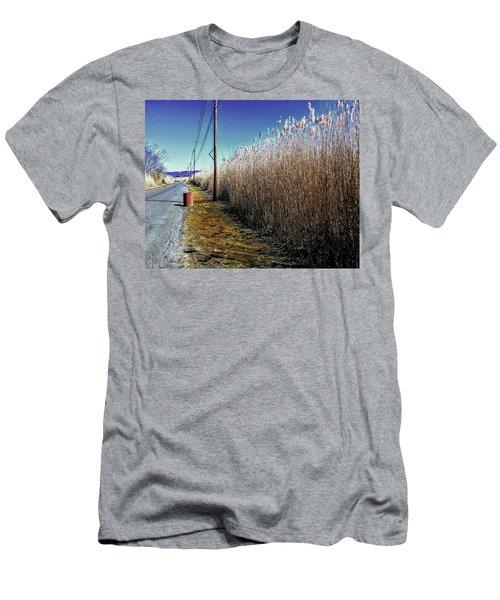 Hudson River Winter Walk Men's T-Shirt (Athletic Fit)
