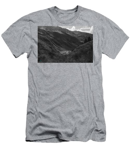 Hugged By The Mountains Men's T-Shirt (Athletic Fit)