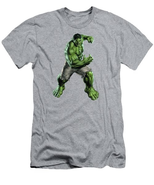 Men's T-Shirt (Slim Fit) featuring the mixed media Hulk Splash Super Hero Series by Movie Poster Prints