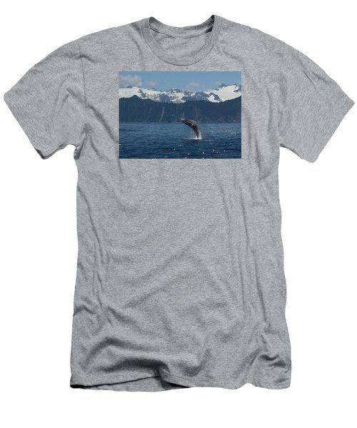 Humback Whale Full Breach Men's T-Shirt (Athletic Fit)