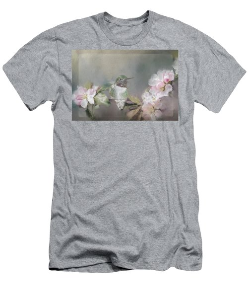 Hummingbird And Blossoms Men's T-Shirt (Athletic Fit)