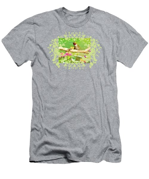 Hummingbird Attitude T - Shirt Designe Men's T-Shirt (Slim Fit) by Debbie Portwood