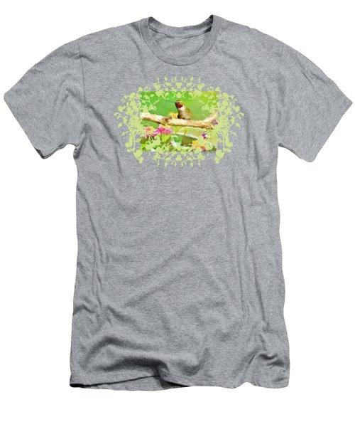 Hummingbird Attitude T - Shirt Designe Men's T-Shirt (Athletic Fit)