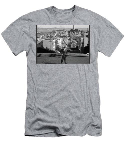 Humphrey Bogart Film Noir Dark Passage Telegraph Hill And Coit Tower San Francisco 1947 Men's T-Shirt (Athletic Fit)