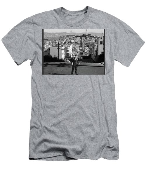 Humphrey Bogart Film Noir Dark Passage Telegraph Hill And Coit Tower San Francisco 1947 Men's T-Shirt (Athletic Fit)