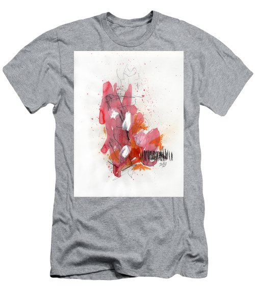 Men's T-Shirt (Athletic Fit) featuring the painting Hundelskurd by Rick Baldwin