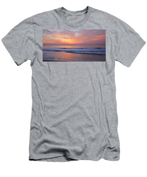 Huntington Beach Sunrise, Nc Men's T-Shirt (Slim Fit) by Alan Lenk