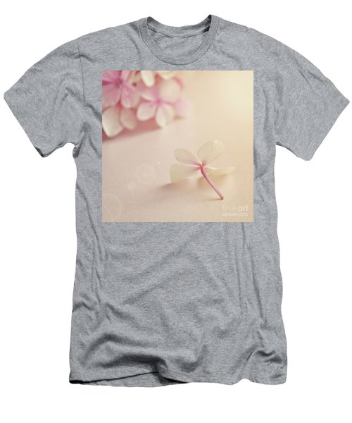 Men's T-Shirt (Slim Fit) featuring the photograph Hydrangea Flower by Lyn Randle