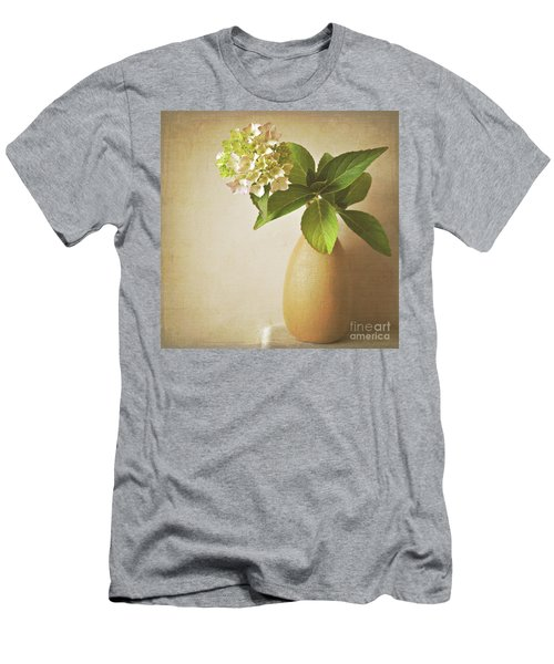 Hydrangea With Leaves Men's T-Shirt (Athletic Fit)