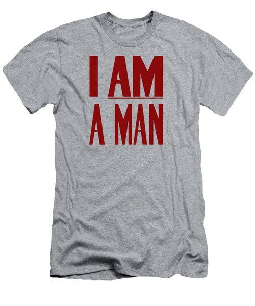 I Am A Man - Civil Rights Print Men's T-Shirt (Athletic Fit)