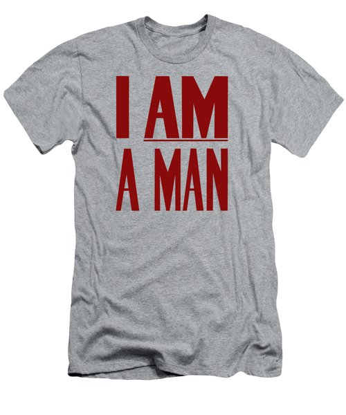 I Am A Man - Civil Rights Print Men's T-Shirt (Athletic Fit)