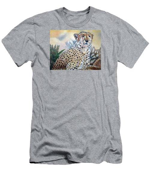 I Am Cheetah 2 Men's T-Shirt (Slim Fit) by Marilyn  McNish