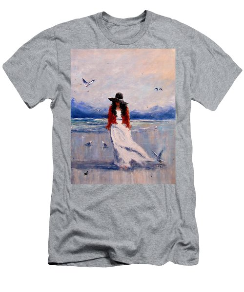 Men's T-Shirt (Slim Fit) featuring the painting I Am Just A Dreamer.. by Cristina Mihailescu