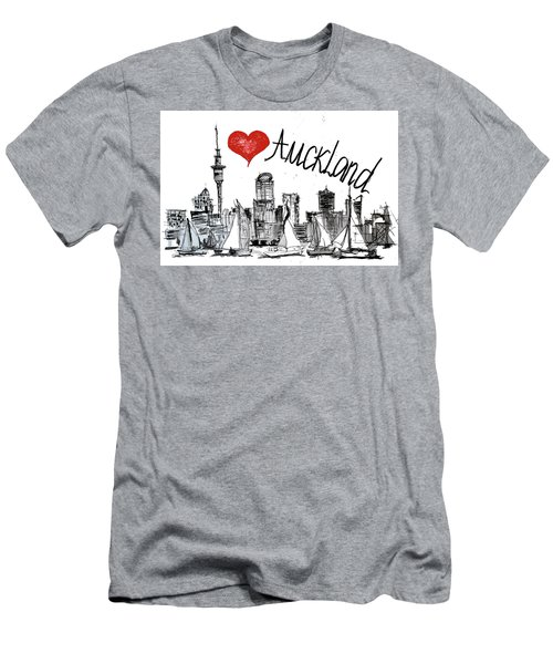 I Love Auckland  Men's T-Shirt (Slim Fit) by Sladjana Lazarevic