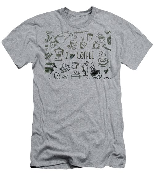 I Love Coffee Men's T-Shirt (Athletic Fit)