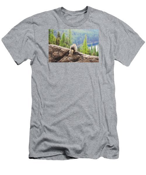 Men's T-Shirt (Slim Fit) featuring the photograph I Love My Home by Janie Johnson