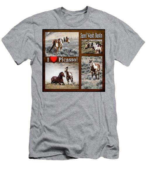 I Love Picasso Collage Men's T-Shirt (Slim Fit) by Nadja Rider